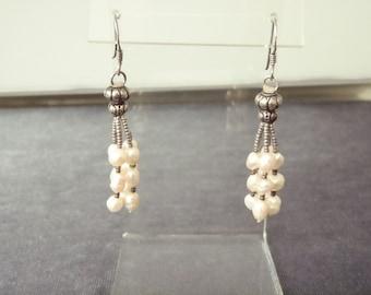 Sterling Silver Freshwater Pearl Earrings E64
