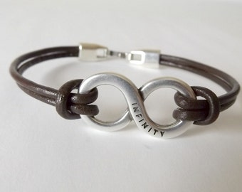 Infinity bracelet, mens jewelry, husband gift, boyfriend gift, gift for men, jewelry for men, mens bracelet, bracelets for men