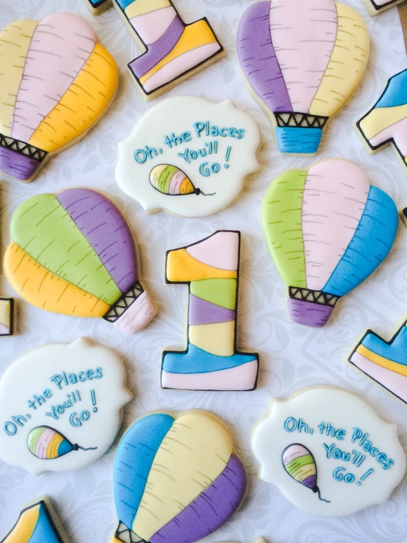 Oh The Places You 39 Ll Go First Birthday Cookies One