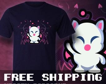 Final Fantasy Mog T-Shirt Mens & Ladies * Free Shipping * Great Gamer Gift