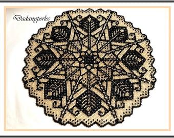 bead weaving doily egypte