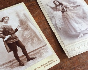 Antique Photographs of 2 Chacters in Costume