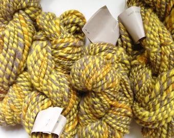 1 lb 1 oz Handspun Wool Natural Hand Plant  Dyed Art Yarn Super Chunky 210 Yards