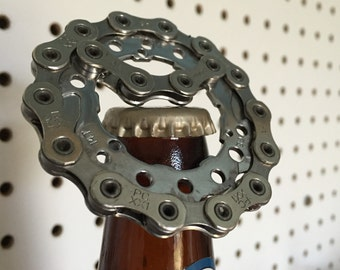 Recycled Bike gear bottle opener