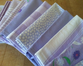 Lunch box Napkins, Set of 12, Shades of Lavender / Purple, by CHOW with ME