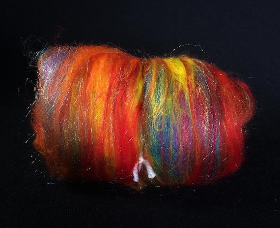 Blazing Rainbows, a merino nylon mix