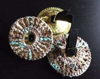 Hemp Zill covers mufflers, finger cymbals - 1 set of 2, brown blue