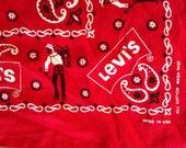 vintage Levis 50s denim western rockabilly red BANDANA