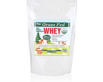 Organic Grass Fed Whey Protein - NON GMO - Free Shipping