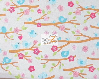 "100% Cotton Fabric By RJR Fabrics - Love Birds Nesting Floral - 45"" Wide By The Yard (FH-1943)"
