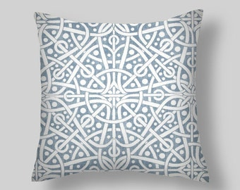 "Blue Pillows, Blue Decorative Pillows, Throw Pillow,  PILLOW COVERS ,18 ""  Decorative Throw Pillows, Pillow Covers, Blue Throw Pillows"