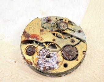 Antique brass pocket watch movement Pocket watch parts - c61
