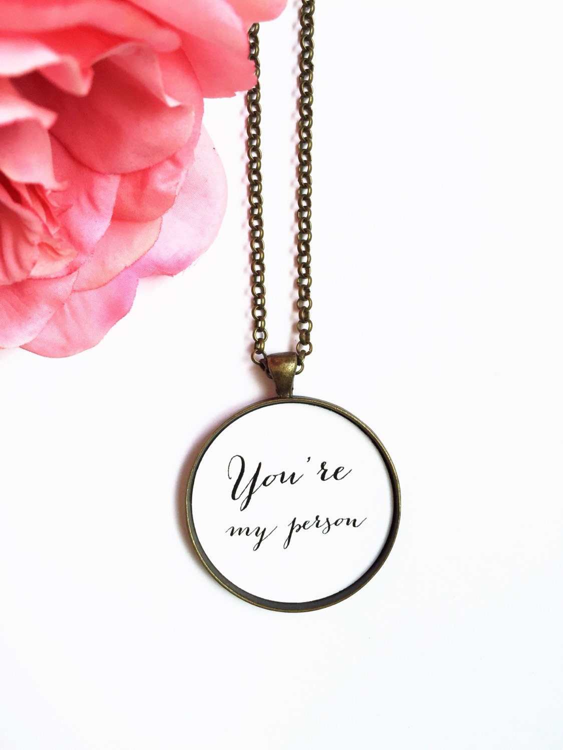 you re my person necklace fiance gift gift by