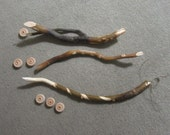 """3 New Willow Wood Wand.  """"Double Trouble"""" ,""""Diamond"""" and """"The Spiral"""".  All Natural Hand Carved White Willow."""