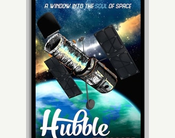 "50% OFF Hubble Telescope Poster - A window into the soul of space - 11""x17"""