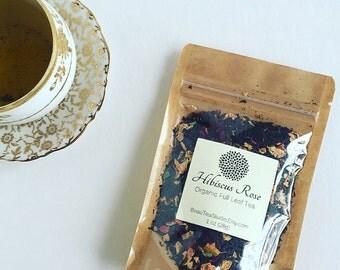 Organic Loose Leaf Tea~ Hibiscus Rose Black Tea~1oz~