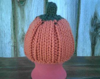 Infant Pumkin Hat - Beanie - Cap - Photo Prop - Baby - Newborn - Halloween
