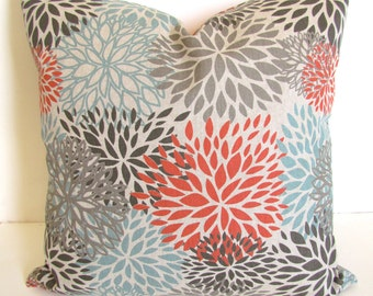 TAN PILLOWS Spa Blue Throw Pillow Covers Ecru Tan Pillow Snowy