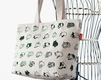 cat butts canvas bag
