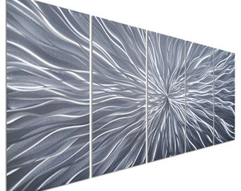 Modern Abstract Painting Metal Wall Art Sculpture Electric Radiant