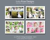 6 x 4 Photo Collage Templates - Set 2