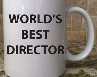 Ceramic Coffee Mug Cup11oz White World's Best Director Perfect New