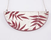 Necklace, Laquer & Gold Leaf TROPICAL