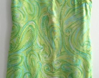 Genuine Vintage 1960's Mod Silk Shift Dress by Welsmere