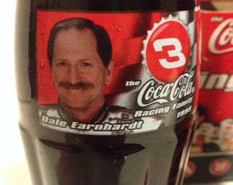 Racing Family Coca-Cola 6 pack Full bottles Featuring! Dale Earnhardt Sr.