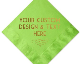 Fully Customizable Cocktail/Beverage Napkins - You Choose Your own Fonts and Designs!