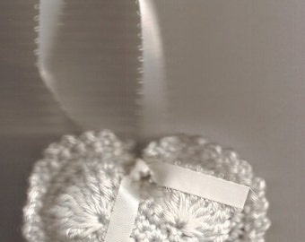 Crocheted Real Lavender Heart Sachets, also comes in PEPPERMINT!