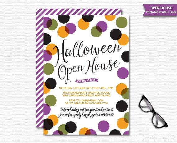 Halloween Open House Invitation Halloween Invitation Printable – Costume Party Invitations Free Printable
