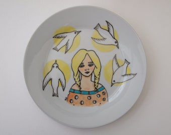 Spring- 7.5 inch Illustrated Plate