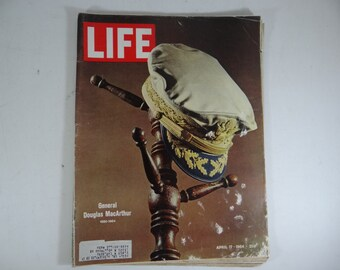 1964 Life Magazine, April 17 - General Douglas MacArthur - Kim Novak