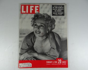 1950 Life Magazine, February 6, Eva Gabor - Churchill Memoirs