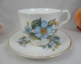 """Vintage Sadler English Bone China Teacup """"Wellington""""  English Teacup and Saucer English Tea Cup"""