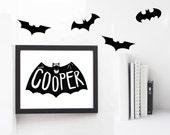 Halloween decorations, Bat decal, Bat wall sticker, Halloween wall decal, wall decals, wall stickers, vinyl wall decal stickers  x40