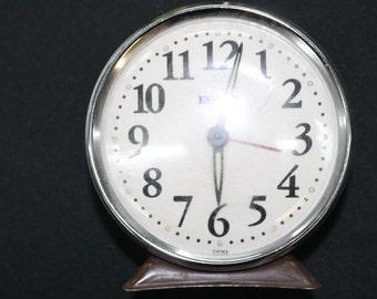 vintage metal Equity alarm clock