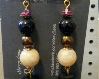 Queen Bees ~ Honey Jade Earrings