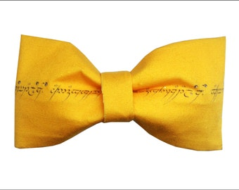 LOTR One Ring Tolkien Inspired Hair Bow or Bow Tie Lord of the Rings Hobbit Geeky Fabric Bow