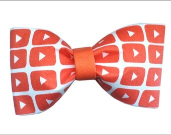 YouTube Inspired Hair Bow or Bow Tie Internet Bow
