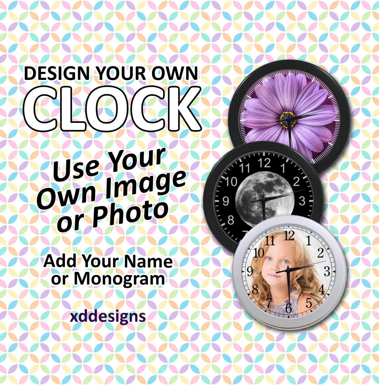 Make Your Own Clock: Design Your Own Wall Clock Custom Clock Personalized And