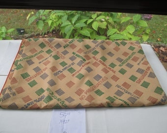 Vintage Tablecloth 59 x 92 reads All Natural No Preservatives Nothing Artificial Earth Colors
