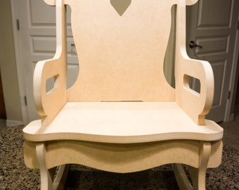 Child's Puzzle Rocking Chair
