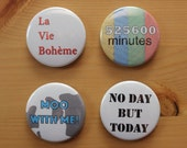 RENT Button or Magnet Pack - 4 Pinback Buttons or Magnets