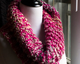 Pink and more Cowl neck scarf