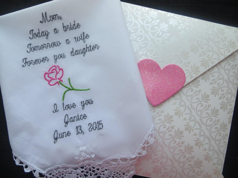 Embroidered Wedding Handkerchief For By Elegantmonogramming
