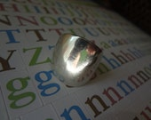 Silver Bold Ring 925 Sterling Silver size 6 Birthday Gift Anniversary Sister Aunt Chunky Thick Old Antique Monogram Initial Ring