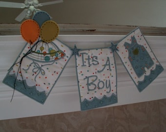 It's a boy baby banner for baby shower baby reveal party
