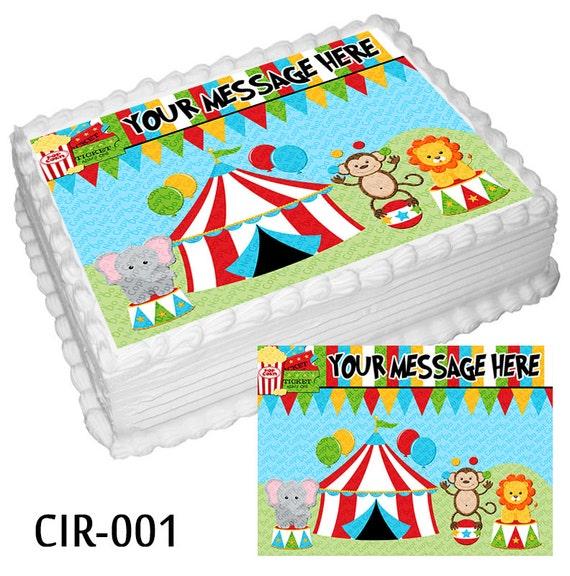 Circus Birthday Party Edible Cake Decorations Birthday Wikii